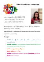 Eva BECHARD Catégorie Egalité