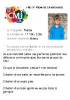 Martin MARCANT Catégorie Egalité